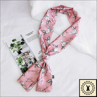 Rabbit Print Scarf By Bambi.