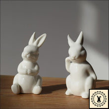 Load image into Gallery viewer, Rabbit Relaxing - Ceramic Figurine