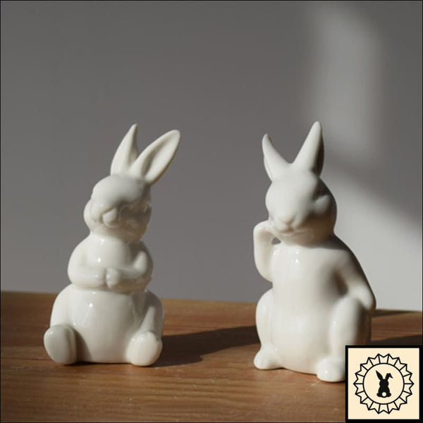 Rabbit Relaxing - Ceramic Figurine