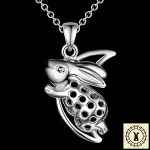 Silver-Plated Rabbit Insignia Necklace.