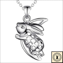 Load image into Gallery viewer, Silver-Plated Rabbit Insignia Necklace.
