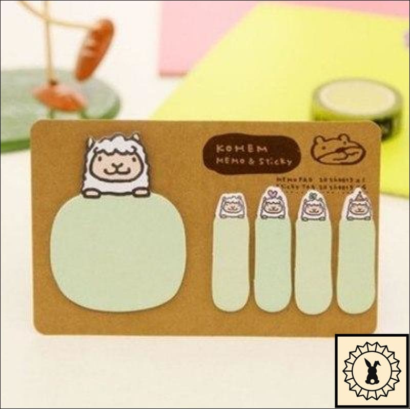 Sticky Memo Notes Green Sheep