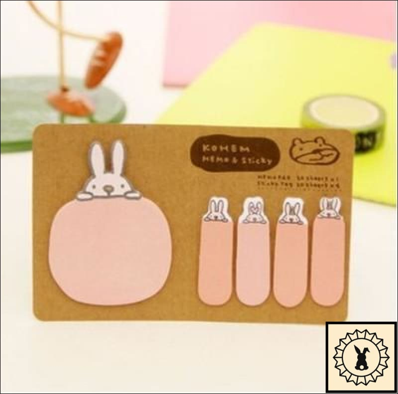 Sticky Memo Notes Pink Rabbit