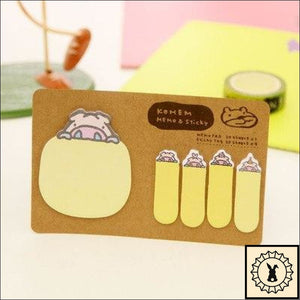 Sticky Memo Notes Yellow Pig