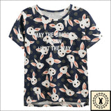 Stylish Rabbit Print T-Shirts. - Brioges©