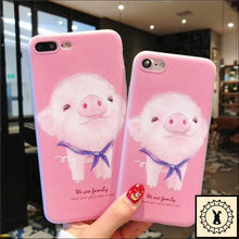 Load image into Gallery viewer, We Are Family Iphone Cases. Pinky Pig. / 5 5S Se