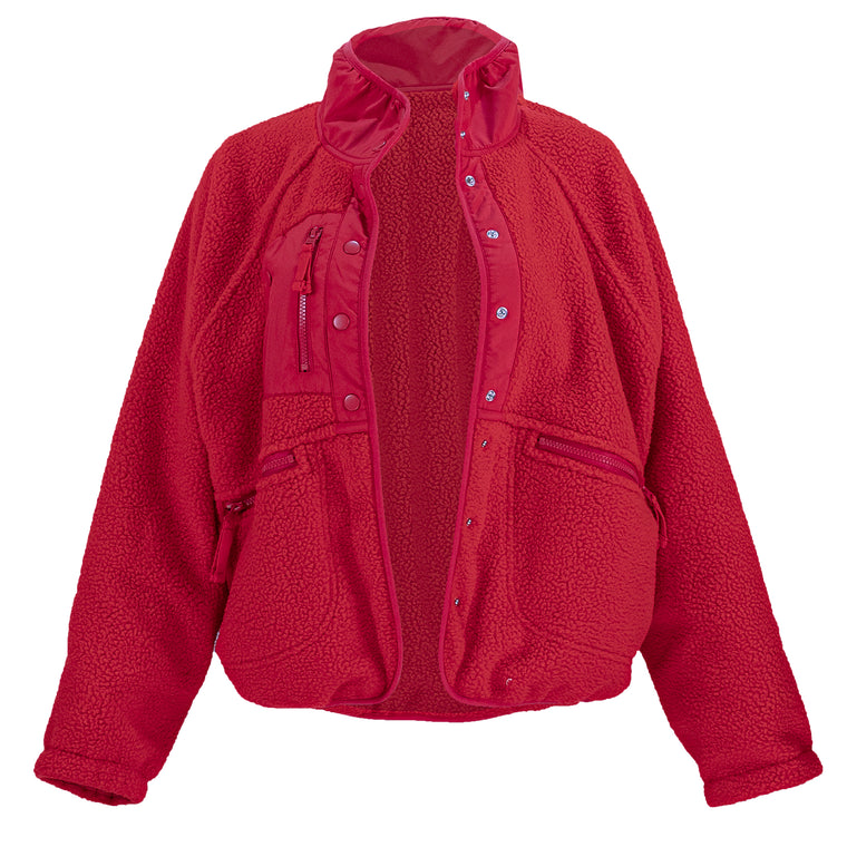 Hit The Slopes Jacket Cardinal Red