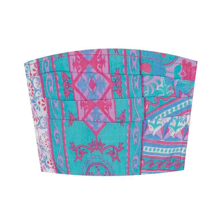 Face Mask Adult  Turquoise & Pink
