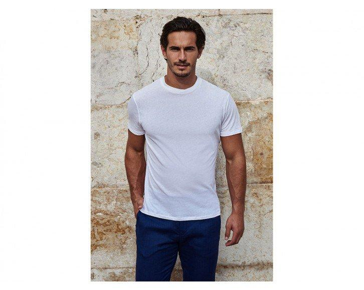 mens white short sleeve t shirt