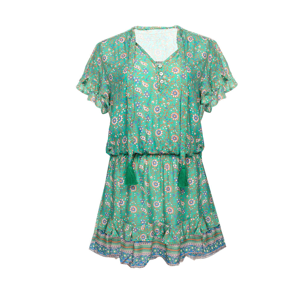 Izzy Dress Mint Flower