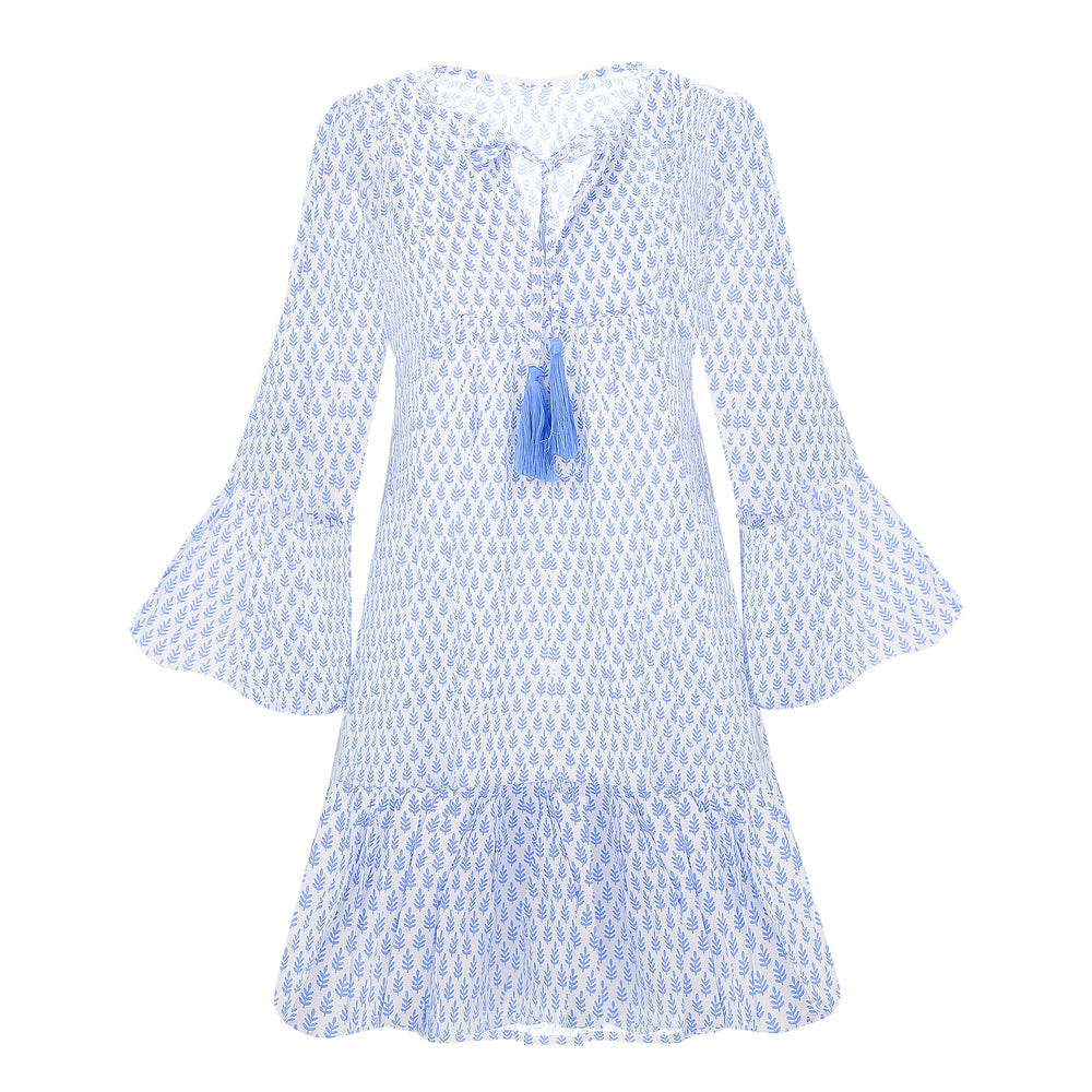 Christmas Tree Dress Light Blue