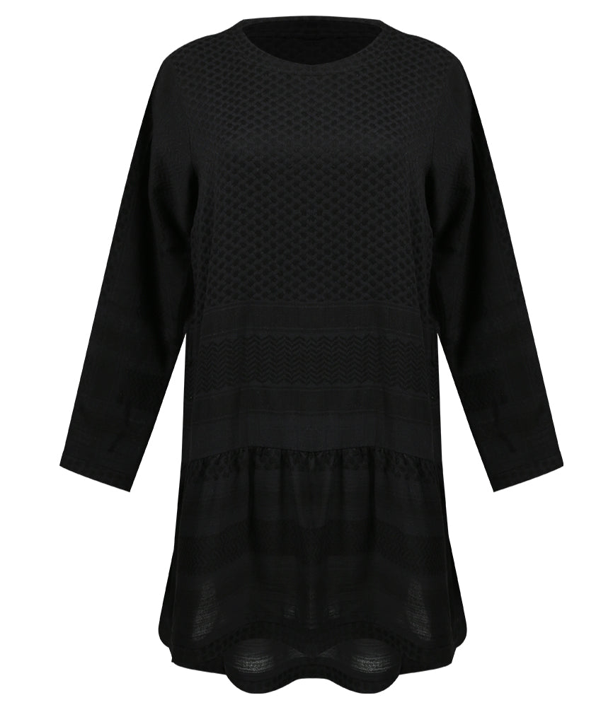 Dress 2, O, Long Sleeves Black