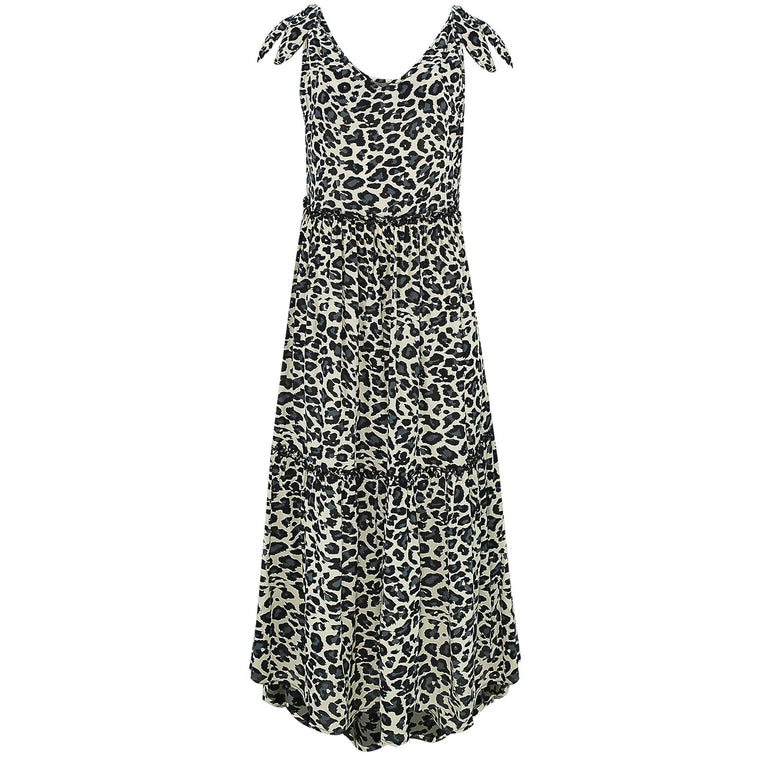 Lucy Dark Leopard Long Dress