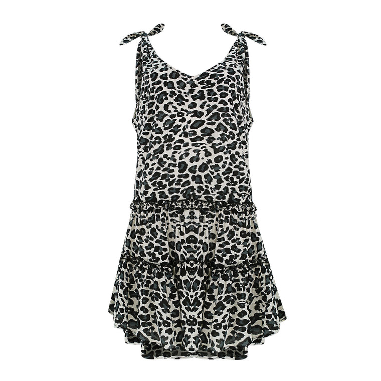 Lucy Dark Leopard Short Dress