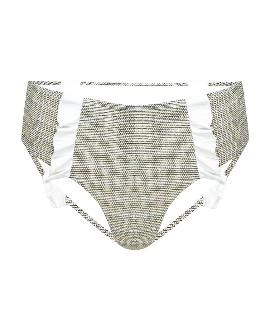 Full Coverage High Fashion Bikini Bottom with Ruffles | Sand Dollar UK
