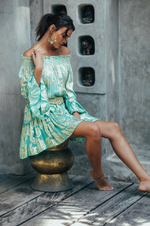 Waldorf Dress Turquoise