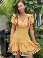 A Mango Melody Tulu Mini Dress