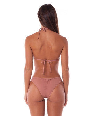 Rhythm Swimwear Cheeky Bikini Bottom in Tan