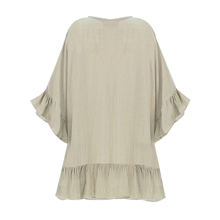Linen Tunic Top Nude