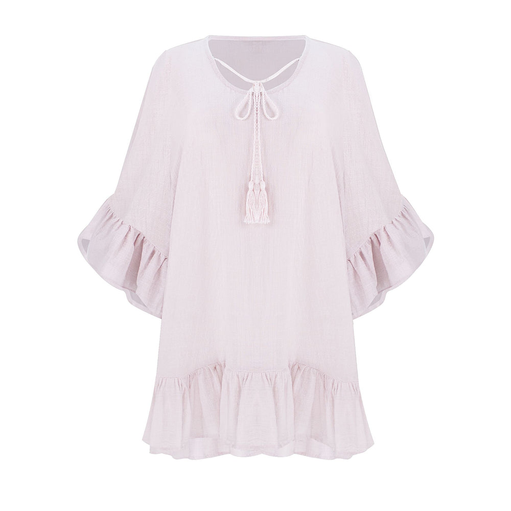 Linen Tunic Top Pink