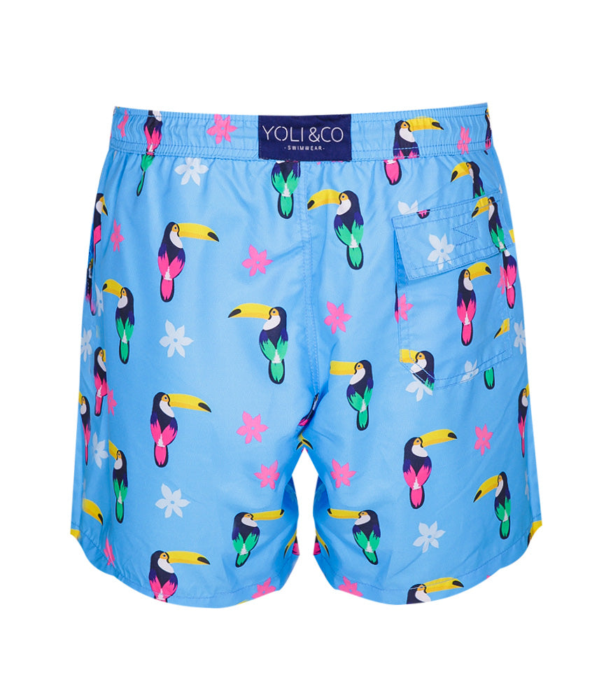 funky mens printed swim shorts