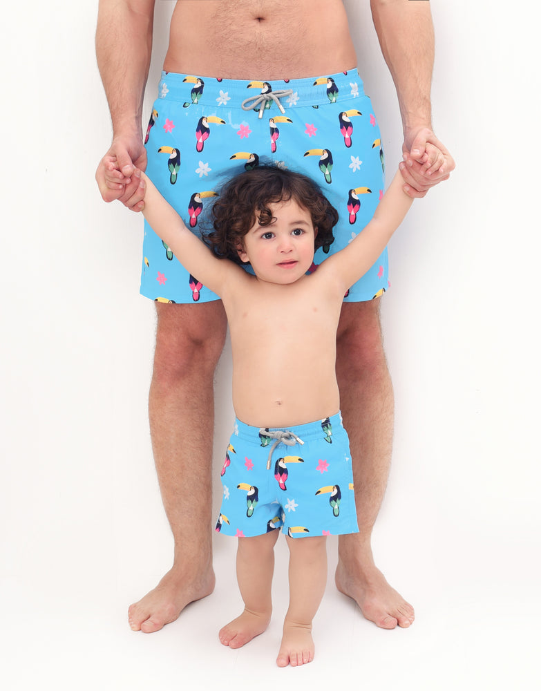 cute mens swim shorts matching father and son