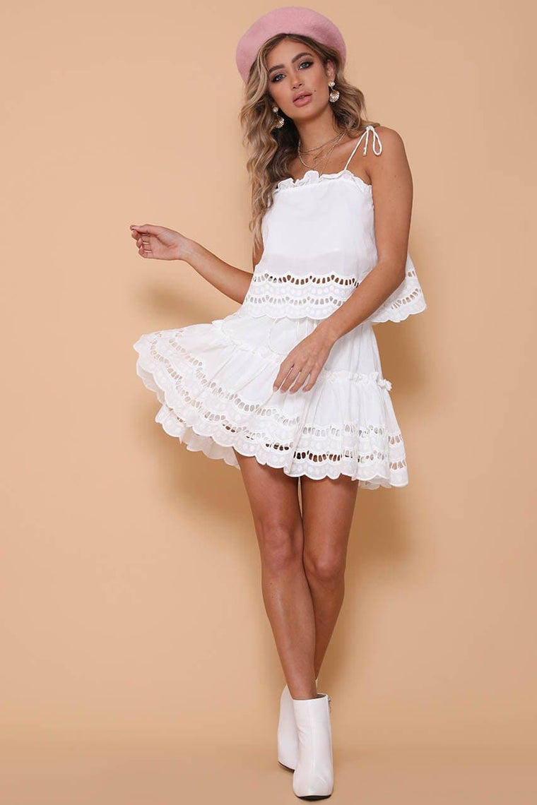Alannah Skirt White