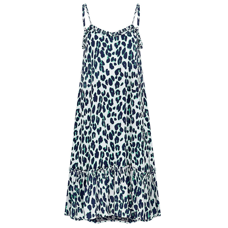 Annie Dress Navy Leopard Dress