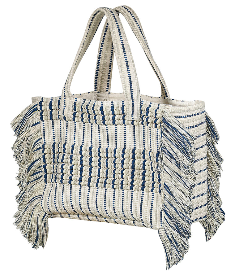 Blue & Green Beach Bag