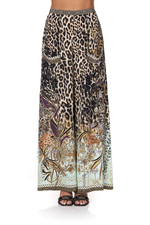 Leopard Print Wide Leg Trousers