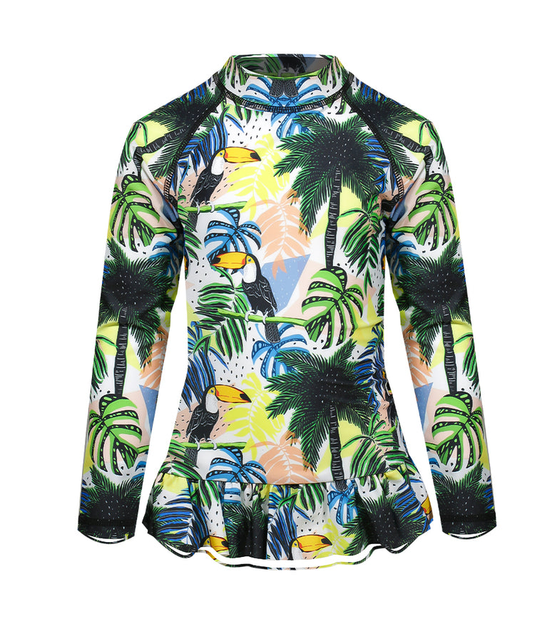 Cosmo Crew Toucan-can Sea & Snow Frill Rash Vest