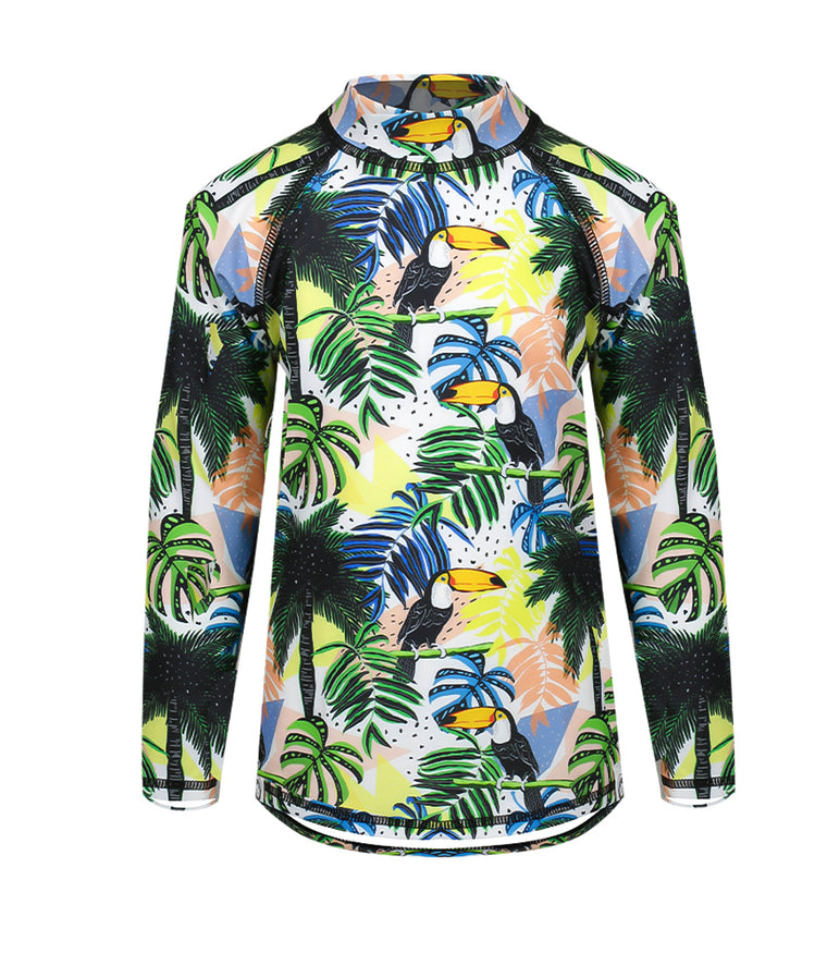 Toddler Rash Vest in Long Sleeve Toucan Print
