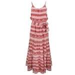 Zakar Chara Long Dress Pink/Red