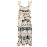 Zakar Rea Dress Off White/Neon Orange