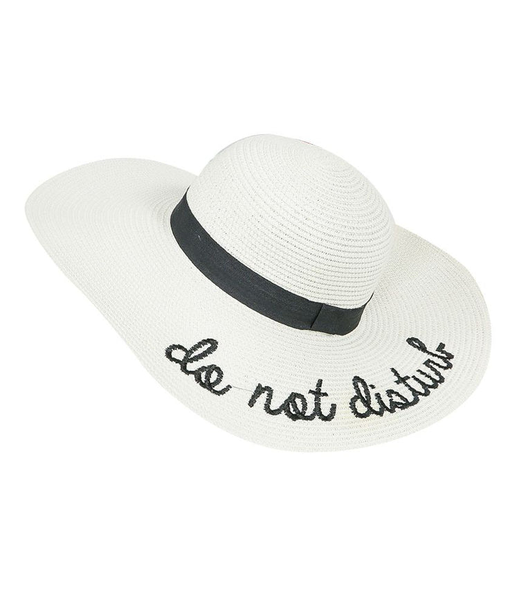 "Stylish beach hat from SD Select ""Do Not Disturb"""