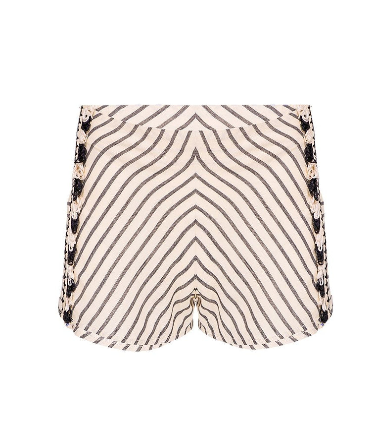 Dodo Bar Or Boho Zebra Shorts in Black