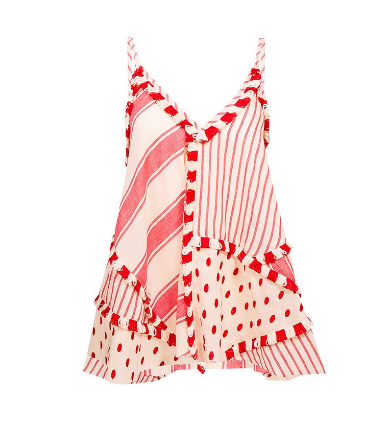 Dodo Bar Or Spaghetti Strap Top in Red