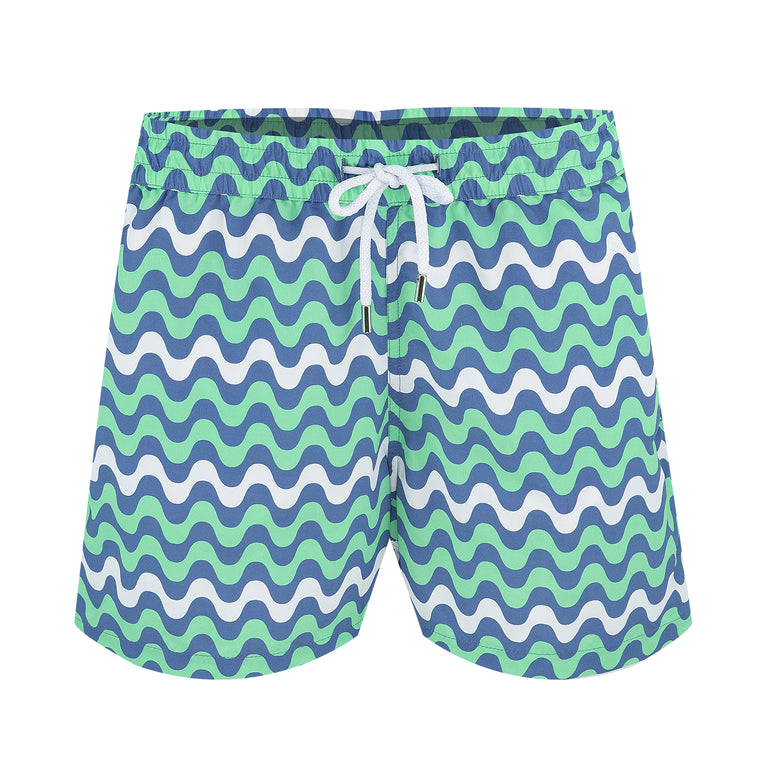 Mens Striped Swim Shorts