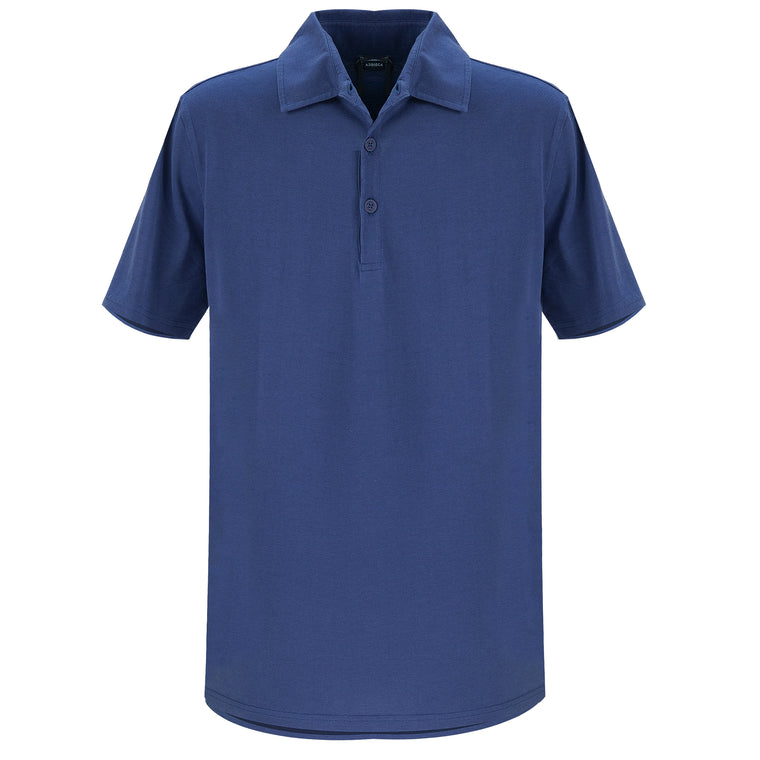 Jersey Polo Shirt Navy Blue