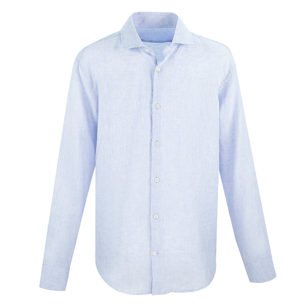 mens light blue linen shirt | mens designer linen shirt