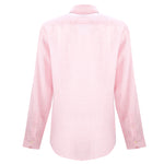 mens pink linen long sleeve shirt | linen long sleeve shirt