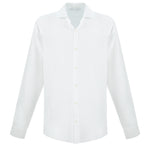 white linen beach shirt | mens white linen dress shirt