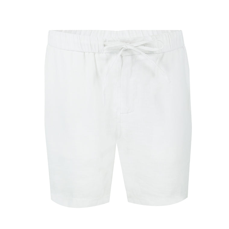Mens White Linen Shorts