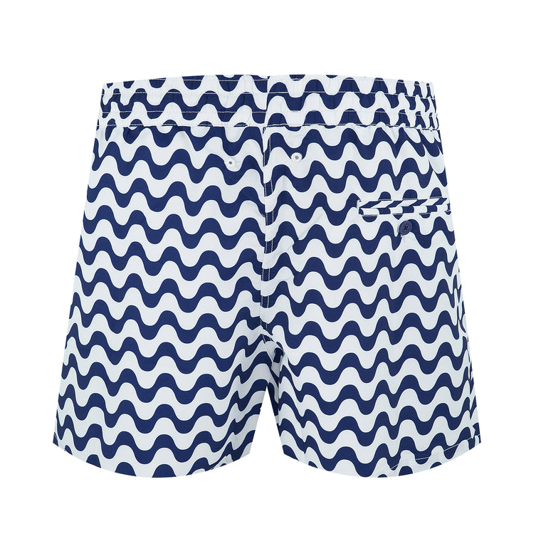 Size Guide for Blue Striped Swim Trunks