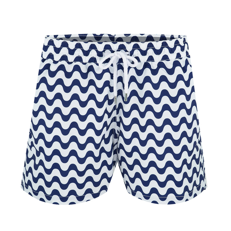 Blue Striped Swim Trunks