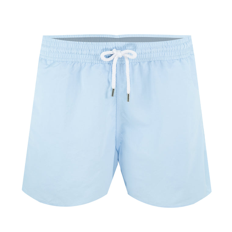 Mens Short Swim Trunks in Baby Blue
