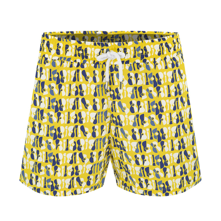Mens Funky Swim Shorts in Yellow
