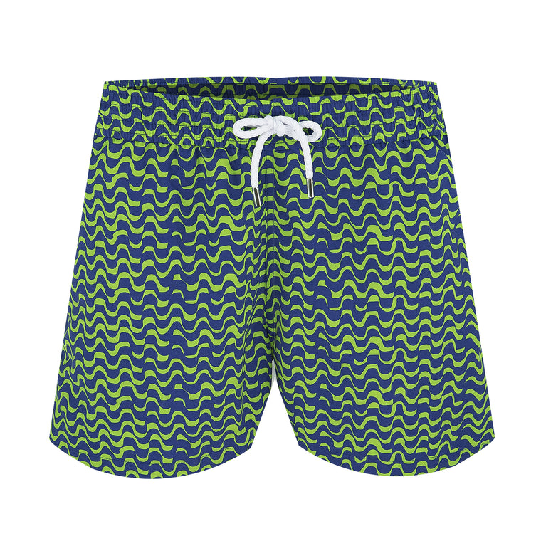 Swim Trunks Sport Short Wave Bossa Coconut Green/Navy