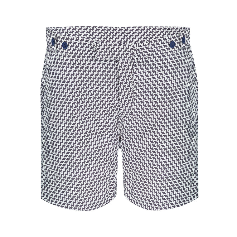 Mens Patterned Swim Shorts