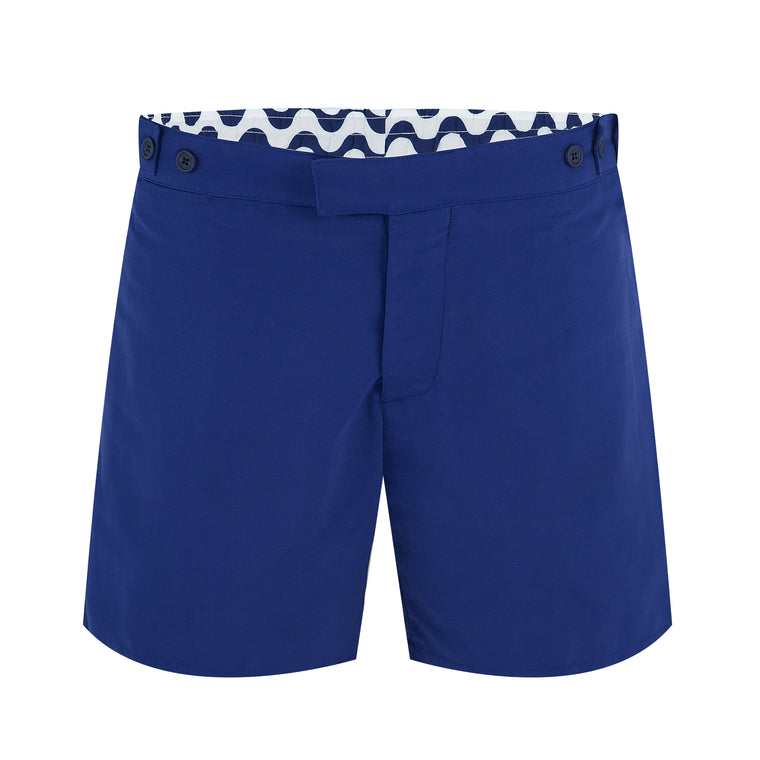 Mens Designer Swim Trunks in Blue